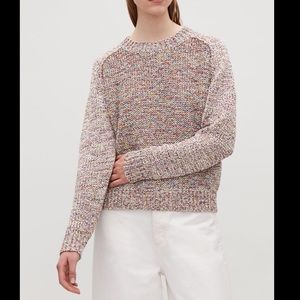 COS chunky knit multicolor sweater, size M